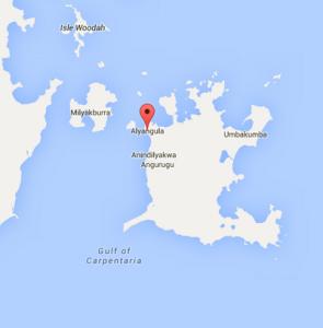 Alyangula map