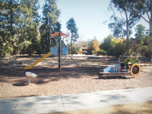 Morgan Place Playground contains Proludic's J3601 dragster (right), J2680M astrolab (centre) and J2595 rotofun (left).
