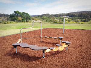 Minmi Progress Hall Playground J16 Tightrope circuit and J2591 Roll up