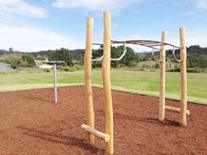 Minmi Progress Hall Playground J2591 Roll up (left) and J4909 Origin horizontal ladder (right).