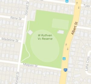 Ruthven Reserve map