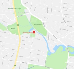 Passmore Reserve map