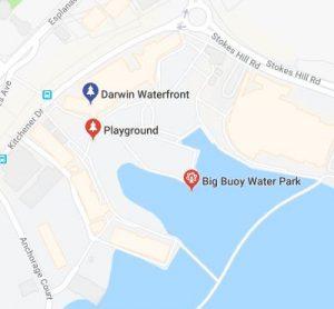 Darwin Waterfront map