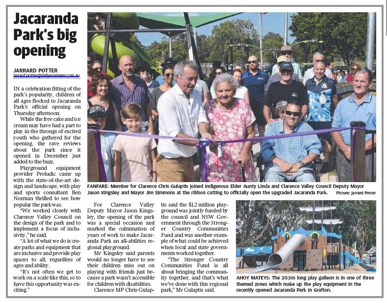 Jacaranda Park official opening