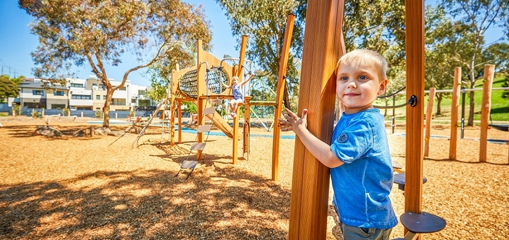 Austin Crescent Reserve nature inspired playspace, VIC – featuring our award-winning Kanopé range