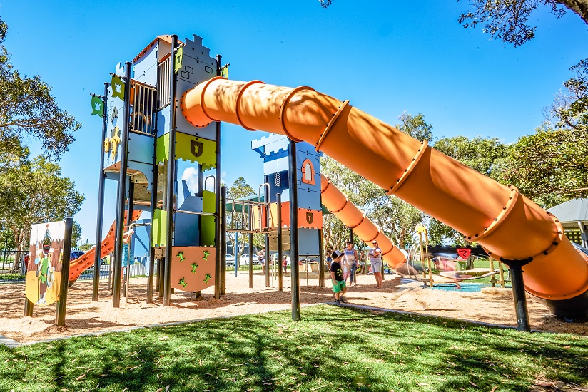 QLD – Tugun Park Castle Themed Playground