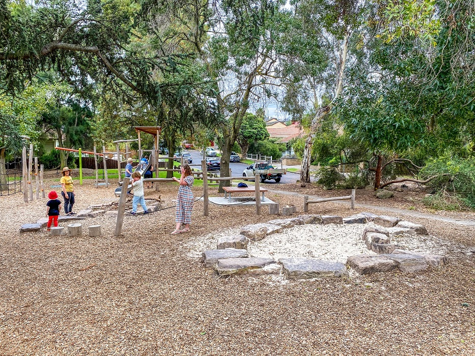 Sand pit and Origin' play equipment
